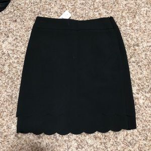 Scalloped pencil skirt from LOFT
